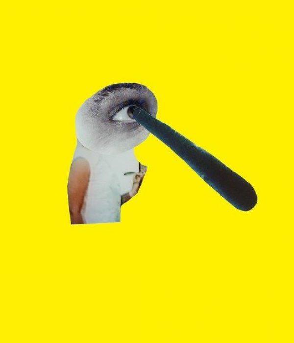 LESS, 2007, collage, tilhører kunstneren